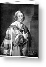 William Pitt, Prime Minister Of Britain Greeting Card