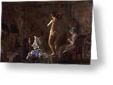 William Rush Carving His Allegorical Figure Greeting Card