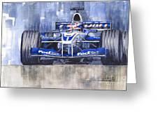 Williams Bmw Fw24 2002 Juan Pablo Montoya Greeting Card by Yuriy  Shevchuk