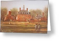 Williamsburg Governors Palace Greeting Card