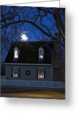 Williamsburg House In Moonlight Greeting Card