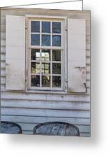 Williamsburg Window 86 Greeting Card