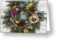 Williamsburg Wreath 10b Greeting Card