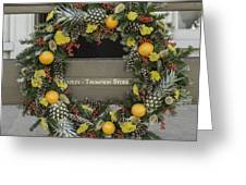 Williamsburg Wreath 18 Greeting Card