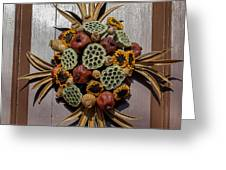 Williamsburg Wreath 35 Greeting Card