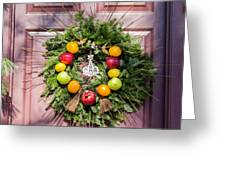 Williamsburg Wreath 53 Greeting Card