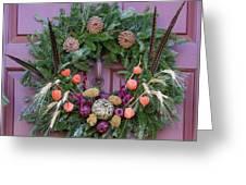 Williamsburg Wreath 92 Greeting Card