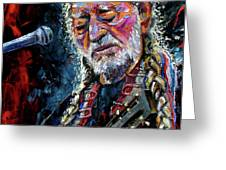 Willie Nelson Portrait Greeting Card