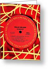 Willie Nelson Stardust Lp Label Greeting Card