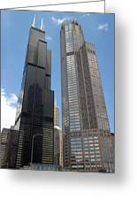 Willis Tower Aka Sears Tower And 311 South Wacker Drive Greeting Card