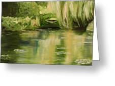 Willow At Monet Greeting Card