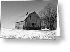Willow Barn Bw Greeting Card