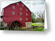 Willow Grove Mill Spring Day Greeting Card