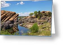 Willow Lake And Granite Dells Greeting Card