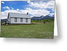Willows School Below The Wet Mountain Range Greeting Card