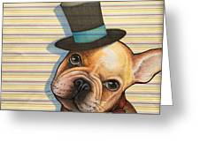 Willy In A Top Hat Greeting Card