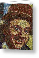 Willy Wonka Fizzy Lifting Bottle Cap Mosaic Greeting Card