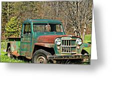 Willys Jeep Pickup Truck Greeting Card