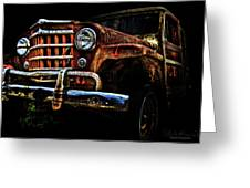 Willy's Station Wagon Greeting Card by Glenda Wright