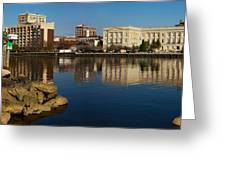 Wilmington Nc Waterfront Greeting Card