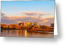 Wilmington Skyline At Sunset Greeting Card