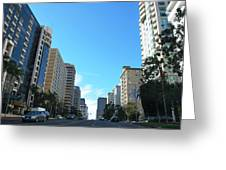 Wilshire Blvd - West La Greeting Card