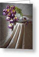 Wilted Bouquet Of Tulips Greeting Card