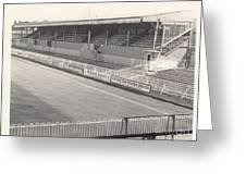 Wimbledon Fc - Plough Lane - South Stand 1 - Bw - 1969 Greeting Card