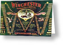 Winchester Double W Cartridge Board Greeting Card
