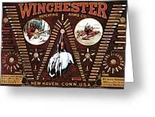 Winchester W Cartridge Board Greeting Card