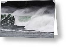 Wind And Waves In Oregon Greeting Card