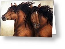 Wind Brothers Greeting Card by Pat Erickson