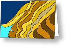 Wind Goddess Greeting Card