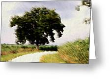 Wind Motif Old Dam Road Greeting Card