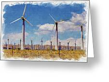 Wind Power Greeting Card