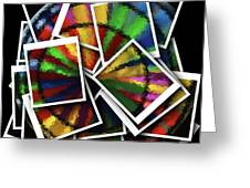 Wind Spinner Collage Greeting Card