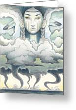 Wind Spirit Dances Greeting Card