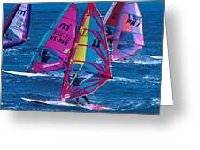 Wind Surfers In Nassau Greeting Card
