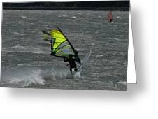 Wind Surfing On The Columbia Greeting Card