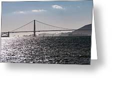 Wind Surfing Under The Bridge Greeting Card