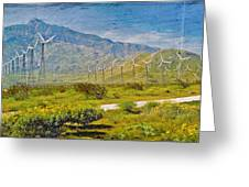 Wind Turbine Farm Palm Springs Ca Greeting Card