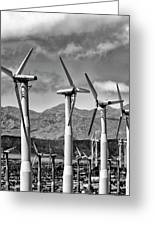 Wind Turbines Palm Springs Greeting Card