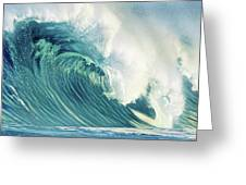 Wind Waves Greeting Card