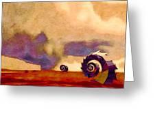 Wind World Greeting Card