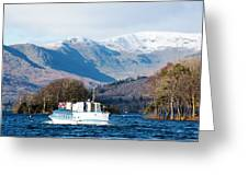 Windermere Cruise Greeting Card
