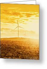 Windfarm Sunset Greeting Card