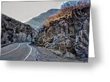 Winding Canyon Road Greeting Card