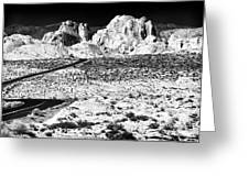Winding In The Desert Greeting Card