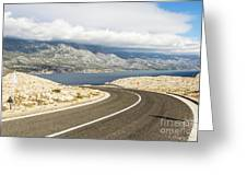 Winding Road In Croatia Greeting Card