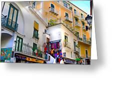 Winding Through Amalfi Greeting Card